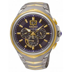 Seiko Coutura Chrono Solar Two Tone Watch SSC642P1